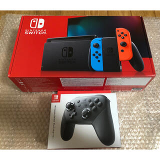 Nintendo Switch - 任天堂 Switch ネオンブルー ネオンレッド 本体➕プロコントローラー