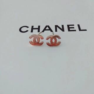 CHANEL - ピンクゴールドミニピアス