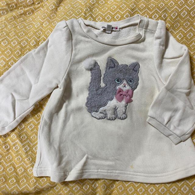 anyFAM(エニィファム)のany Fam トレーナー 90 猫 キッズ/ベビー/マタニティのキッズ服女の子用(90cm~)(Tシャツ/カットソー)の商品写真