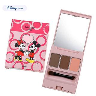 ディズニー(Disney)の WHOME ミッキー&ミニー アイブロウパウダー レッドブラウンパレット(パウダーアイブロウ)