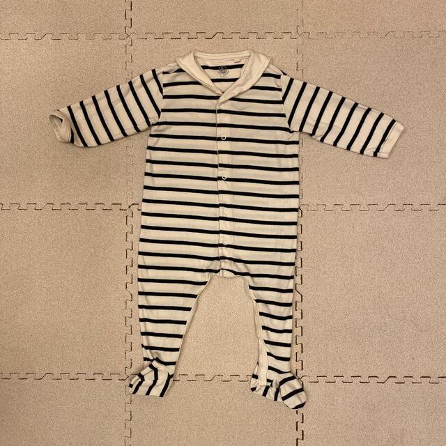 PETIT BATEAU(プチバトー)の最終値下げ*プティバトー 12m カバーオール  キッズ/ベビー/マタニティのベビー服(~85cm)(ロンパース)の商品写真