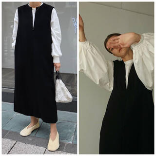 DEUXIEME CLASSE - 【新品タグ付き】machatt ウールジャンパースカート  ブラック
