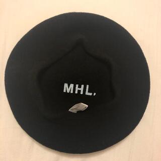 MARGARET HOWELL - 《MHL.》ベレー帽 ブラック
