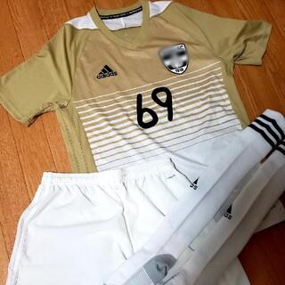 adidas - サッカー部 ユニフォーム 上下セット アディダス 部活 高校