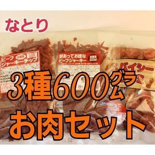 なとり お肉おつまみ3種セット ビーフジャーキー2種類&スパイシーサラミ (乾物)