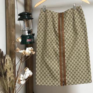 Gucci - GUCCI 膝丈 スカート