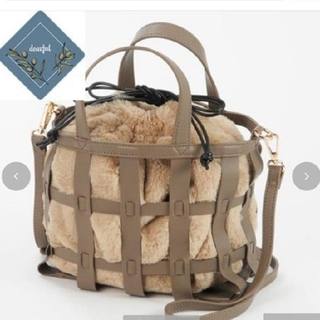 しまむら - プチプラのあや カゴ編みファーバッグ