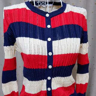 ドットアンドストライプスチャイルドウーマン(Dot&Stripes CHILDWOMAN)のDot&Stripes CHILD WOMEN マルチボーダー カーディガン(カーディガン)