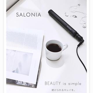 【SALONIA】サロニア ミニストレートヘアアイロン SL-010SBブラック(ヘアアイロン)