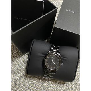 マークバイマークジェイコブス(MARC BY MARC JACOBS)のマークバイマークジェイコブス 黒 腕時計(腕時計)
