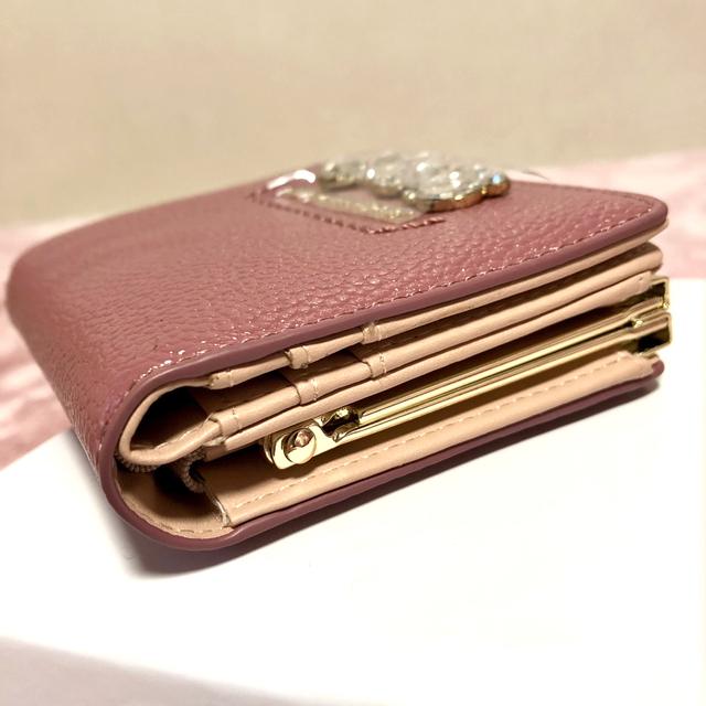 JILL by JILLSTUART(ジルバイジルスチュアート)の新品 ジルバイジルスチュアート  ロイヤルビジューウォレット 財布 モーブピンク レディースのファッション小物(財布)の商品写真
