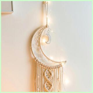 月のマクラメタペストリー タペストリー クリスマス インテリア 雑貨 飾り(インテリア雑貨)