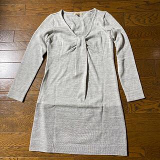 PROPORTION BODY DRESSING - プロポーション ウールブレンド長袖ニットワンピース