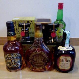 古酒まとめて5本セット ローヤル特級、オールドパー、J&B 、スイング、シーバス
