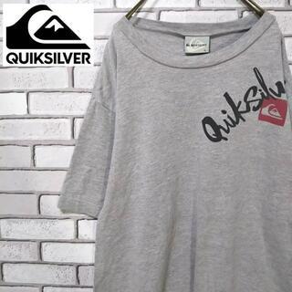 クイックシルバー(QUIKSILVER)の【激レア】QUIKSILVER クイックシルバー 前後デカロゴ Lサイズ 90s(Tシャツ/カットソー(半袖/袖なし))