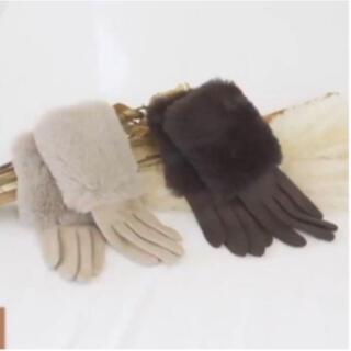しまむら - しまむら プチプラのあや スマホ対応 ファー手袋