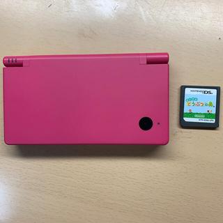 ニンテンドウ(任天堂)のニンテンドーDS i (ピンク)とおいでよどうぶつの森カセット のセット(携帯用ゲームソフト)