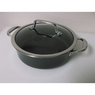 マイヤー(MEYER)のマイヤー アナロンヌーベルカパー  浅型両手鍋24cm(鍋/フライパン)