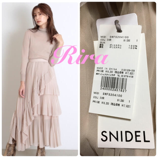 snidel - 新作新品🌷スナイデル シアーボリュームプリーツスカート