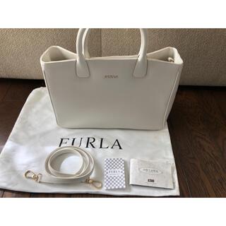 フルラ(Furla)のFURLA フルラ 白 ホワイト トート ショルダー ツーウェイ バッグ(ハンドバッグ)