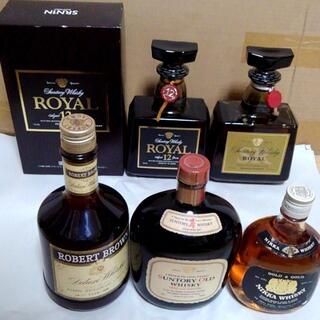 サントリー - ローヤル12年、オールド、ロバートブラウン、ニッカ G&G;終売品含む5本セット