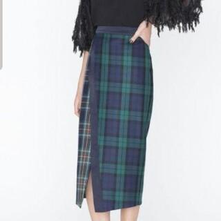 GRACE CONTINENTAL - 美品 グレースコンチネンタル チェックタイトスカートブラック