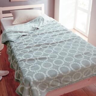 ミナペルホネン(mina perhonen)のミナペルホネン タンバリン風 大判ブランケット 毛布(毛布)