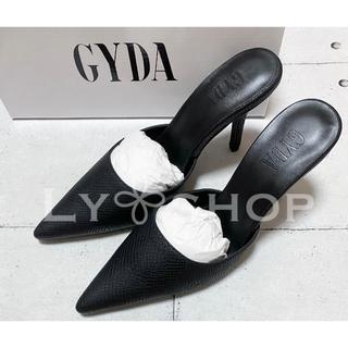 GYDA - GYDA 新品 パイソンポインテッドミュール ブラック