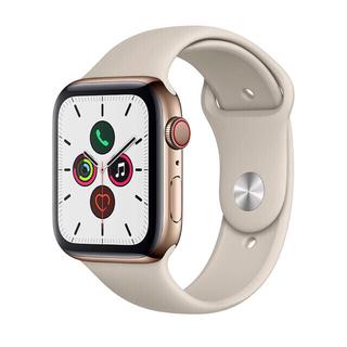 アップルウォッチ(Apple Watch)の【希少新品】Apple Watch 5(GPS + Cellular) ゴールド(腕時計(デジタル))