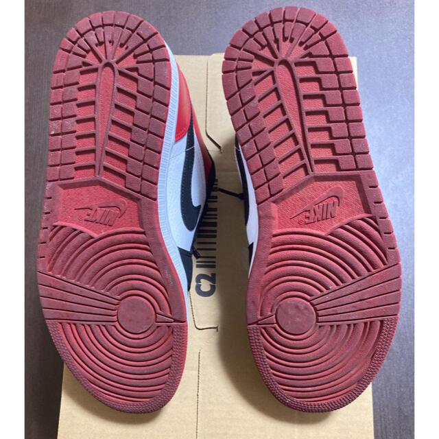 NIKE(ナイキ)のAIR JORDAN 1 LOW BLACK TOE メンズの靴/シューズ(スニーカー)の商品写真