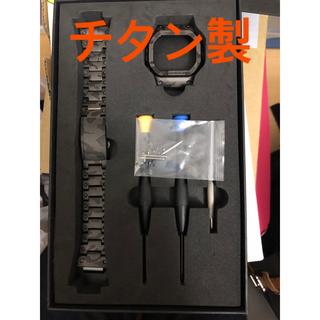 G-SHOCK - G-SHOCK DW-5600 チタン カスタム ベゼルバンド 迷彩 メタル