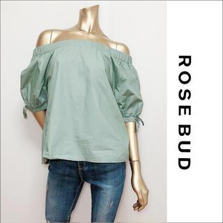 ROSE BUD - ROSE BUD リボンスリーブ オフショルダー トップス ブラウス♡ZARA