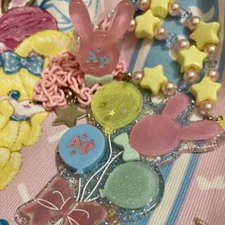 Angelic Pretty - magicalバルーンネックレス&バニーリング(ピンク)