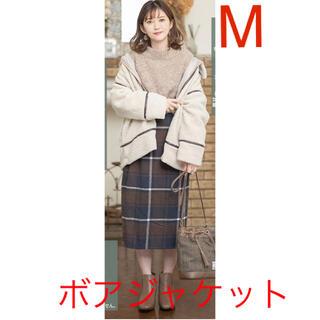 シマムラ(しまむら)のプチプラのあや DFボアJK ボアジャケット コート(ノーカラージャケット)
