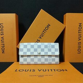 LOUIS VUITTON - CA超美品級ルイ ヴィトン ポルトフォイユ サラダミエ アズール 長財布