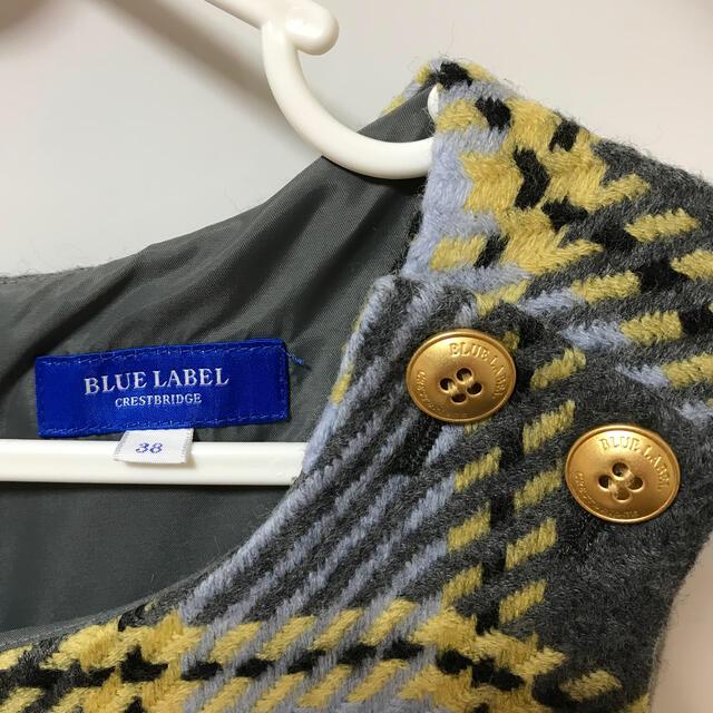 BURBERRY BLUE LABEL(バーバリーブルーレーベル)のブルーレーベル38 ワンピース レディースのワンピース(ひざ丈ワンピース)の商品写真