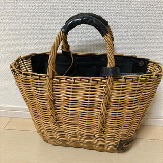 mina perhonen - エバゴス ブライドルレザー×紅藤 トート かごバッグ