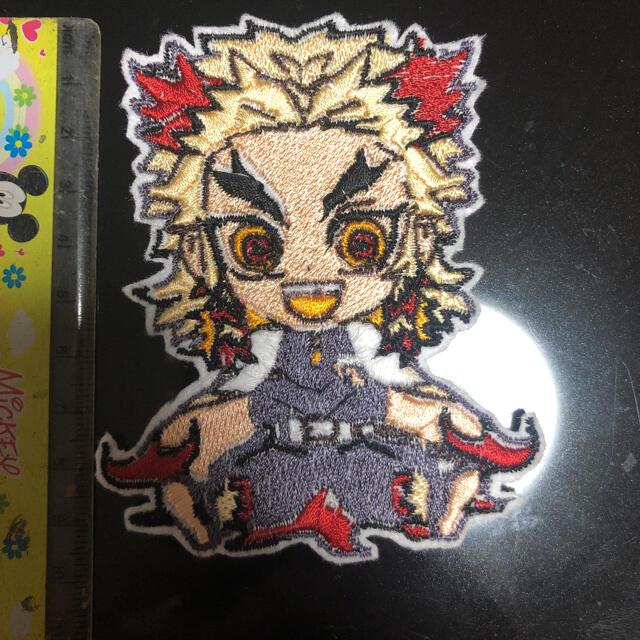 鬼滅の刃 煉獄杏寿郎のワッペン エンタメ/ホビーのおもちゃ/ぬいぐるみ(キャラクターグッズ)の商品写真