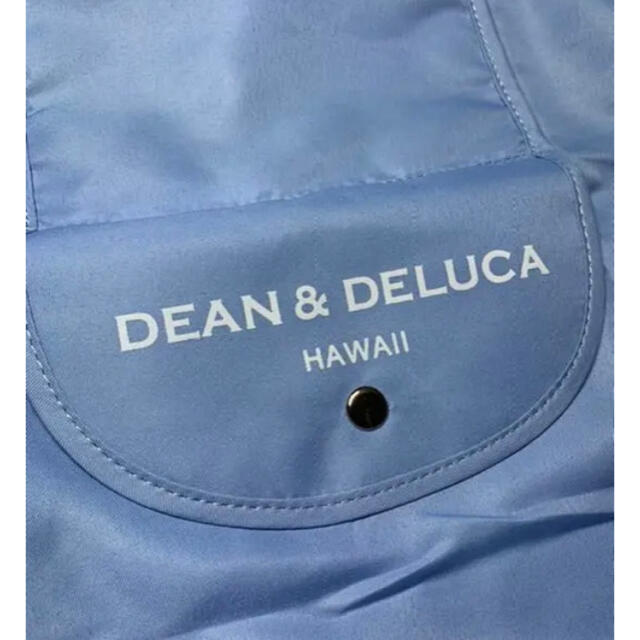 DEAN & DELUCA(ディーンアンドデルーカ)の★タイムセールハワイ限定日本未発売DEAN&DELUCA折り畳みエコバッグブルー レディースのバッグ(エコバッグ)の商品写真