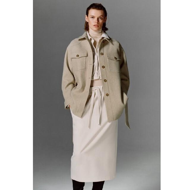 ZARA(ザラ)のZARA ベルト付きシャツジャケット レディースのジャケット/アウター(テーラードジャケット)の商品写真