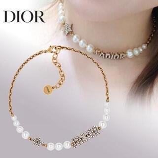 Dior - ディオールレジンビーズ&クリスタル チョーカー&ピアス