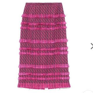 FRAY I.D - フレイアイディーフリンジタイトスカート
