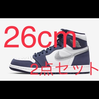 NIKE - AIR JORDAN 1 HIGH OG Midnight Navy 26