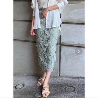 rienda - ケミカルレースの柄域と カラーが兎に角可愛いタイトスカート rienda 今作