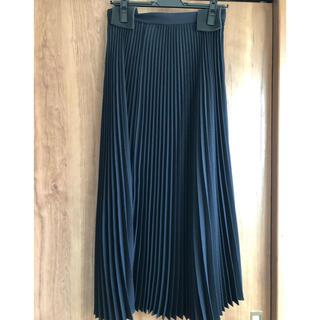 Drawer - cen. プリーツスカート ネイビー 38 ロング丈