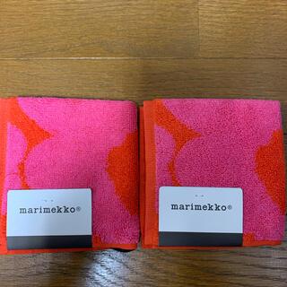 marimekko - 『新品』マリメッコ タオルハンカチ ウニッコ2枚セット