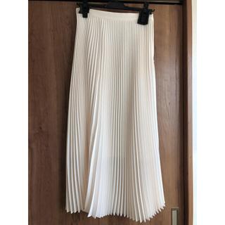 Drawer - cen. プリーツスカート ホワイト 38 ロング丈