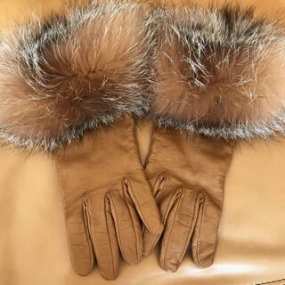 M'S GRACY - 本革フォックスファー手袋