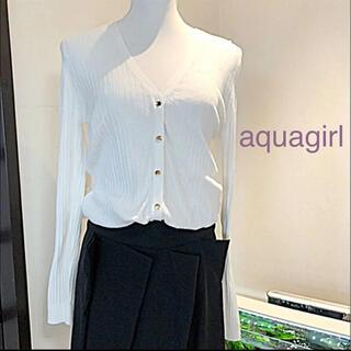 エージーバイアクアガール(AG by aquagirl)のAG by aquagirl☆薄手カーディガン♡ゴールドボタンが素敵(´∀`*)(カーディガン)