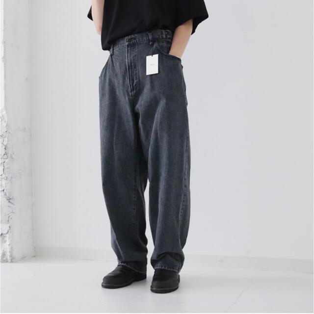 """SUNSEA(サンシー)のstein EX WIDE HOOKED DENIM JEANS """"GREY"""" メンズのパンツ(デニム/ジーンズ)の商品写真"""